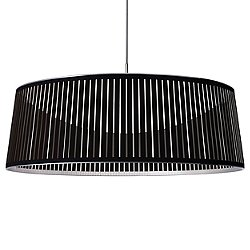 Solis Drum LED Pendant Light (Black/36 inch) - OPEN BOX RETURN