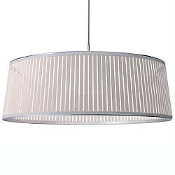Solis Drum LED Pendant Light (White/36 in) - OPEN BOX RETURN
