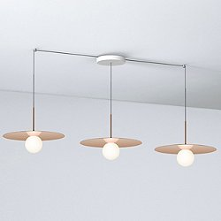 Bola Disc LED Multi-Light Pendant Light with Small Canopy