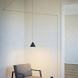 String Cone LED Pendant Light