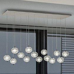 Jefferson LED 14-Light Rectangular Mini Multi-Light Pendant Light