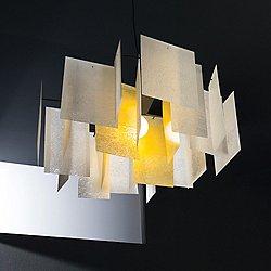 Alexandra Pendant (White & Orange/Small) - OPEN BOX RETURN