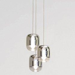 Gong Mini 3-Light Square Pendant Light