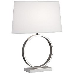 Logan Table Lamp (Nickel/Ascot White) - OPEN BOX RETURN