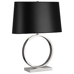 Logan Table Lamp (Nickel with Black) - OPEN BOX RETURN
