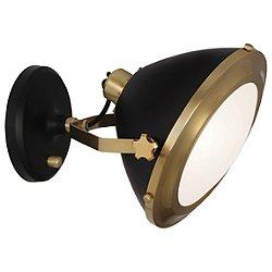 Apollo Wall Sconce (Antique Brass with Matte Black) - OPEN BOX RETURN
