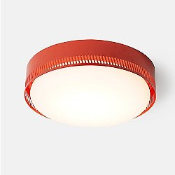 Centro Flush Mount Ceiling Light (Vermilion Red) - OPEN BOX