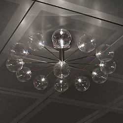 Cluster Wheel PL13 Semi-Flush Mount Ceiling Light