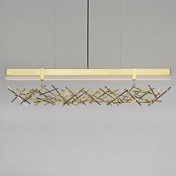 Level Criss Cross LED Linear Suspension Light