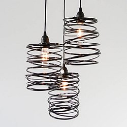 Spiral Nest Cascading 3 Light Chandelier