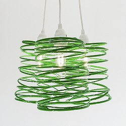 Spiral Nest Cluster 3 Light Chandelier