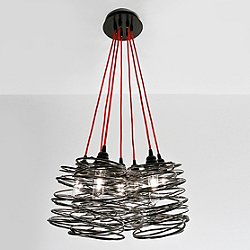 Spiral Nest Cluster 7 Light Chandelier