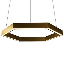Hex 750 Black LED Pendant