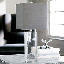 Crystal Block Table Lamp
