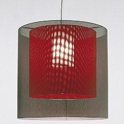 Moare XL Double Shade Pendant Light (XL Grey Shade/Medium Red Shade) - OPEN BOX RETURN