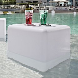 Big Cube Bluetooth LED Indoor/Outdoor Lamp (Wht) - OPEN BOX