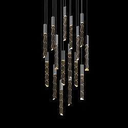 Trinity 16 Light Square Cluster LED Pendant Light