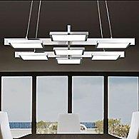 Panels 7 Light Rectangle LED Pendant Light