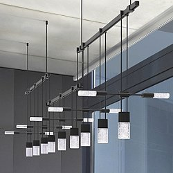Suspenders 36 Inch 3 Bar Offset Linear 9 Light LED Suspension System