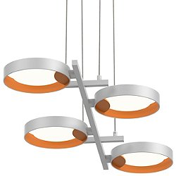 Light Guide Ring 4-Light LED Linear Suspension Light