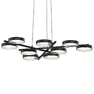 Light Guide Ring 9-Light LED Pendant Light by SONNEMAN Lighting
