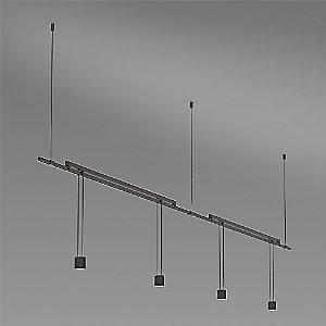 Suspenders 36 Inch 2-Bar Mounted In-Line Linear LED Lighting System - Suspended Cylinder / Flood Lens by SONNEMAN Lighting