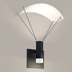 Suspenders Standard Single LED Parachute Reflector Wall Sconce