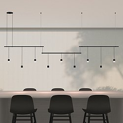 Suspender 36-Inch 3-Bar Offset LED Linear Suspension Light