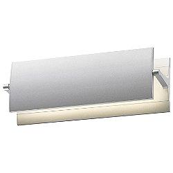 Aileron 24 Inch LED Wall Sconce (Bright Satin Aluminum/12 inch) - OPEN BOX RETURN