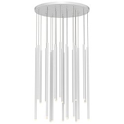 Light Chimes 24-Light Assorted LED Cluster Pendant Light