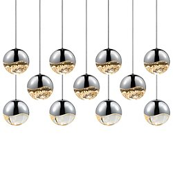 Grapes 11 Light LED Rectangular Multipoint Pendant