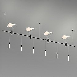 Suspenders 48-Inch 2-Bar In-Line Linear LED Lighting System - Crystal Rod