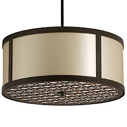 Brentwood Bottom Pattern Round Pendant Light