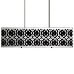 Brentwood Side Pattern Rectangle Linear Suspension Light