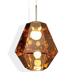 Cut Tall Pendant by Tom Dixon (Gold) - OPEN BOX RETURN