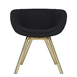 Scoop Chair Low, Metallic Legs by Tom Dixon