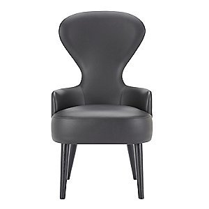 Wingback Dining Chair, Leather by Tom Dixon