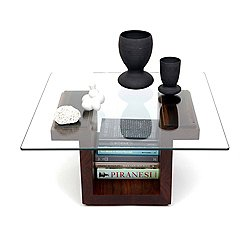 SQG28 Square Glass Top Table