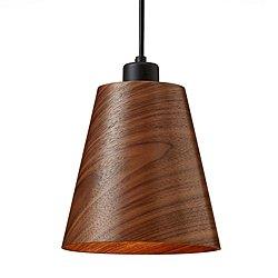 Designer Wood LED Mini Pendant Light