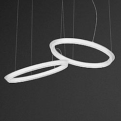 Halo Circular Double LED Pendant Light