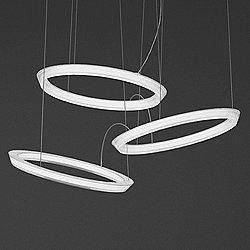 Halo Circular Triple LED Pendant Light