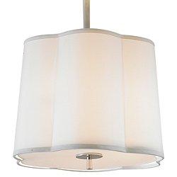 Simple Scallop Pendant Light / Semi-Flush Mount Ceiling Light
