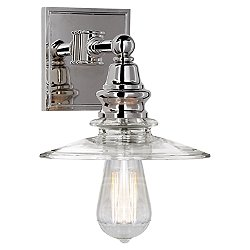Covington Wall Sconce with Clear Glass