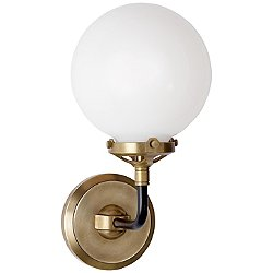 Bistro White Glass Wall Sconce