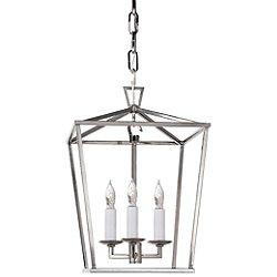 Darlana Mini Lantern Pendant Light (Polished Nickel) - OPEN BOX RETURN
