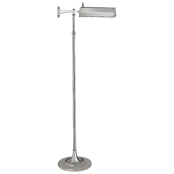 Dorchester Swing Arm Pharmacy Floor Lamp by Visual Comfort - Color: Metallics - Finish: Nickel - (CHA 9107AN)