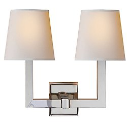 Square Tube Double Wall Sconce