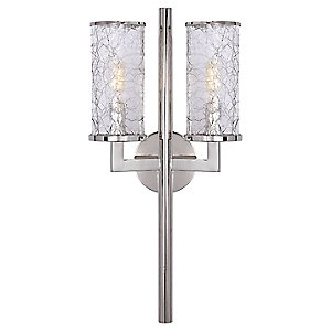 Liaison Double Wall Sconce (Polished Nickel) - OPEN BOX by Visual Comfort