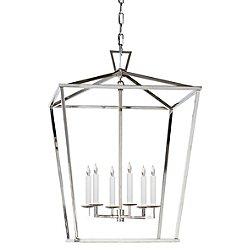 Darlana Lantern Pendant (Polished Nickel/Large) - OPEN BOX