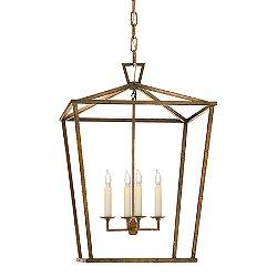 Darlana Lantern Pendant (Gilded Iron/Medium)-OPEN BOX RETURN